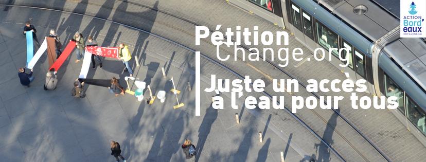 change.org pétition juste un accès à l'eau pour tous