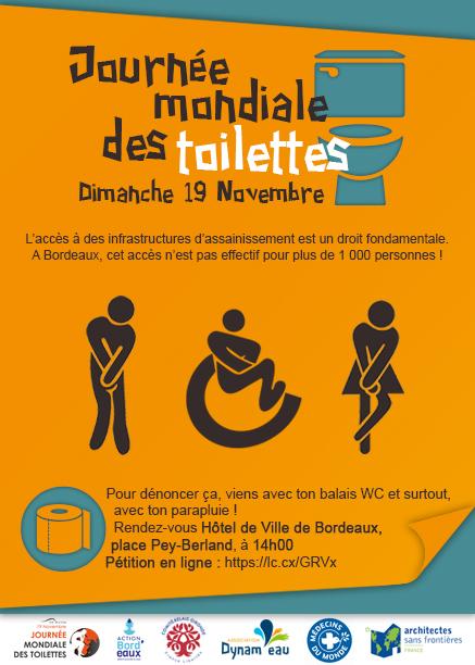 Journée Mondiale Toilette WC Bordeaux Dynam'eau Flyer