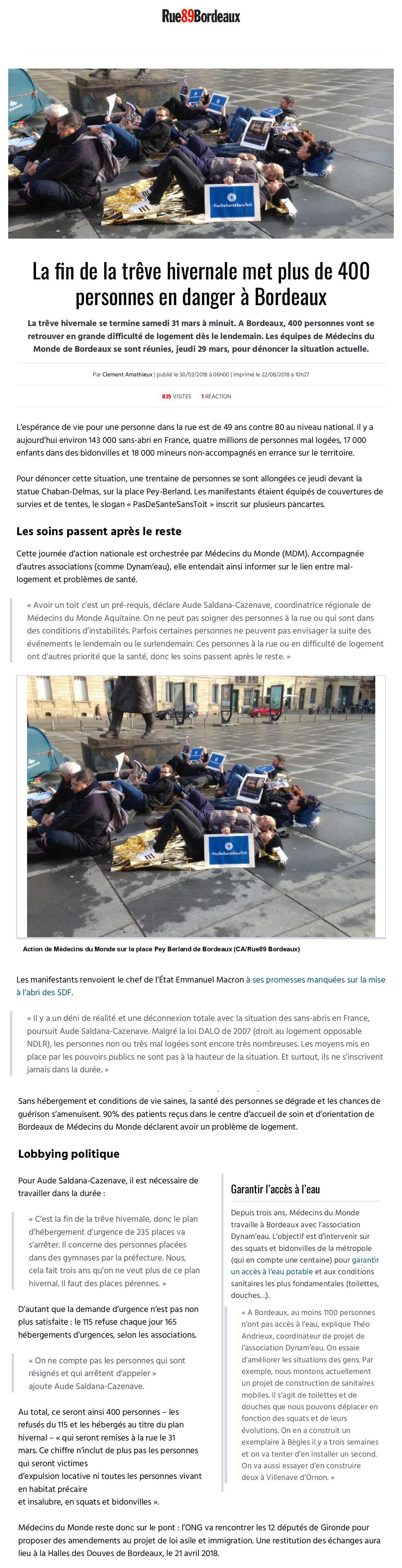 Article trêve hivernale bordeaux rue89 association dynam'eau