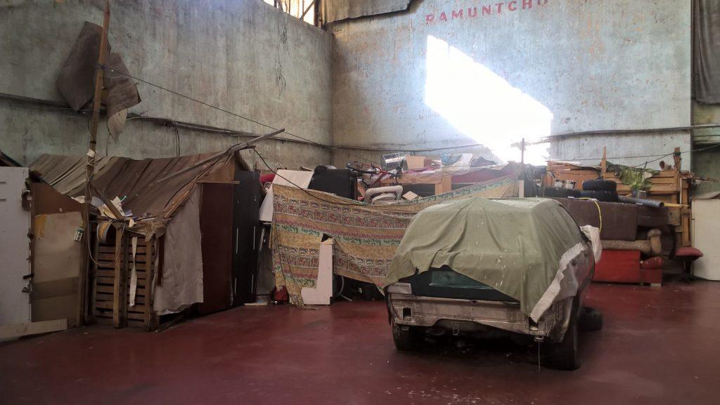 bidonville Squat Marc Sangner -Bègles Aout 2018